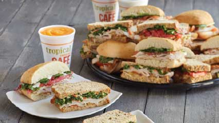 Turkey sandwiches for catering