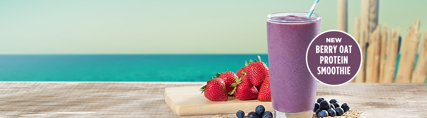 New Berry Oat Protein Smoothie
