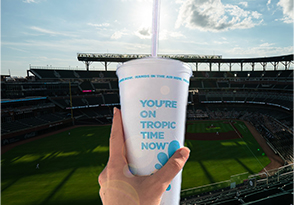 Tropical Smoothie Cup at the Braves Stadium